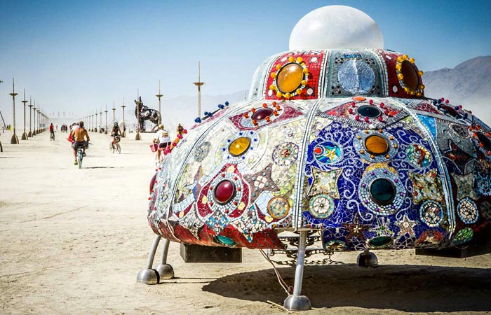 UFO at Burning Man Festival