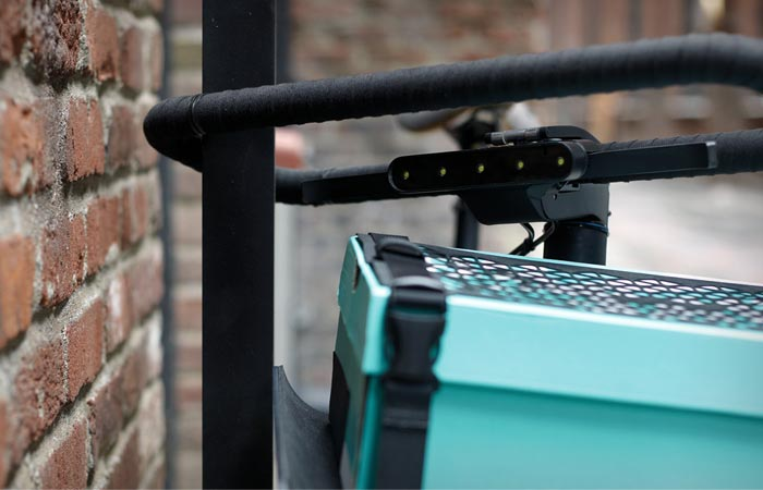 Denny Bicycle with handlebar acting as a bicycle lock