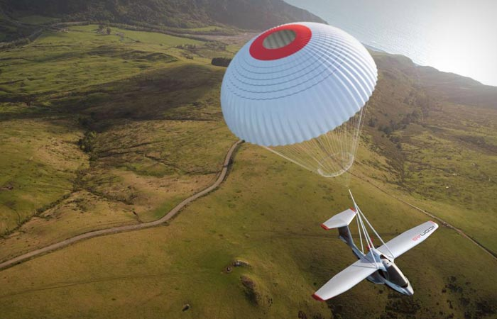 Icon A5 aircraft with built in parachute