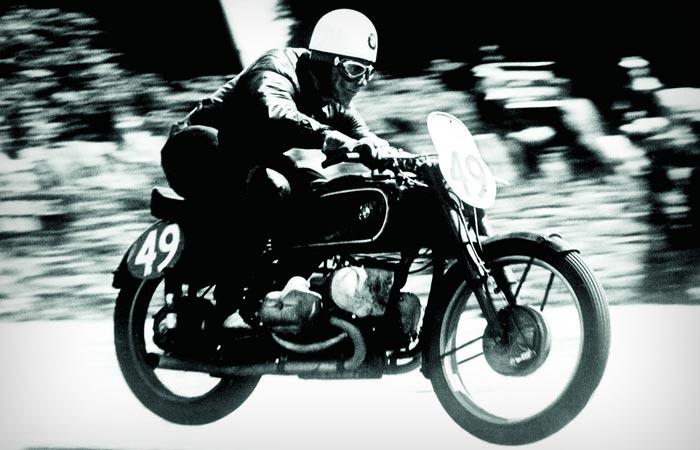 Isle of Man TT vintage photo of the race