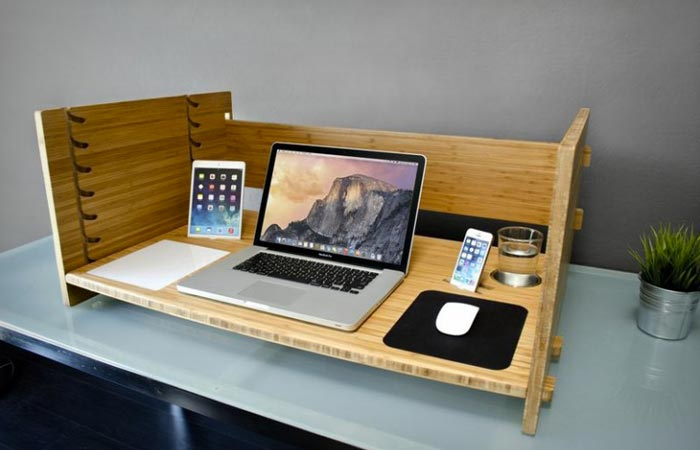 Lift adjustable desk table