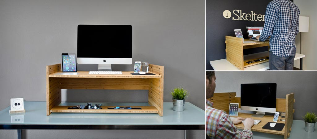 Lift adjustable desk