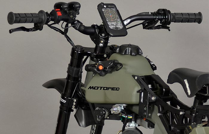 Motoped Survival Bike phone mount