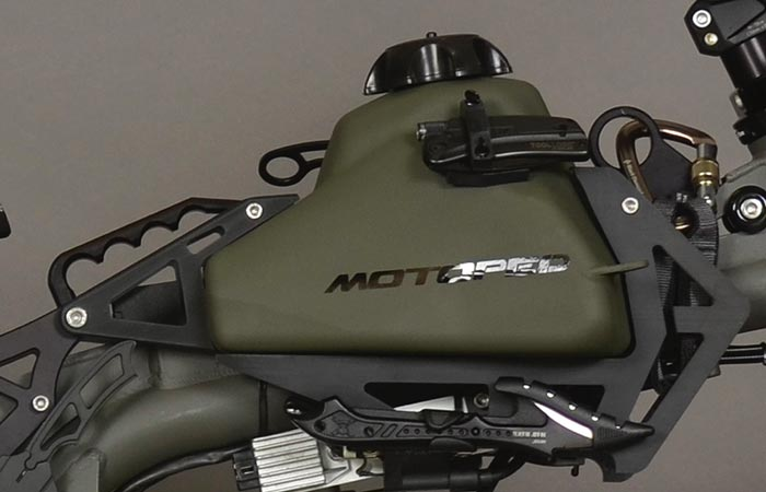 Motoped Survival Bike gas tank
