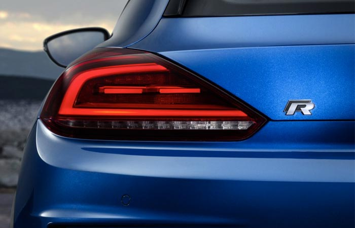 New VW Scirocco rear light