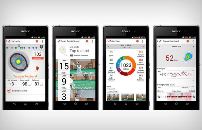 Sony smart tennis sensor app