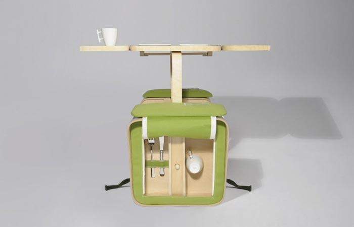 Springtime portable picnic table