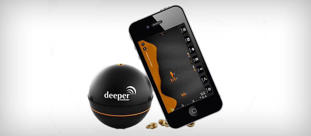 Deeper portable fish finder for smartphones and tablets