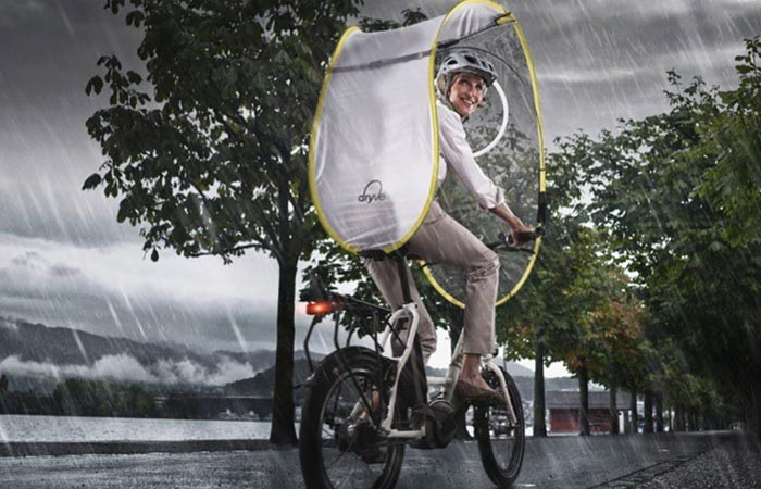 Dryve bicycle rain protection system