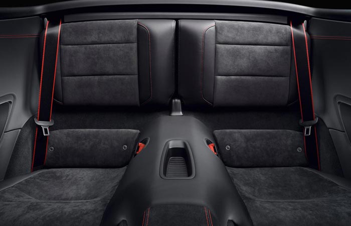 Back seats of the 2015 Porsche 911 GTS