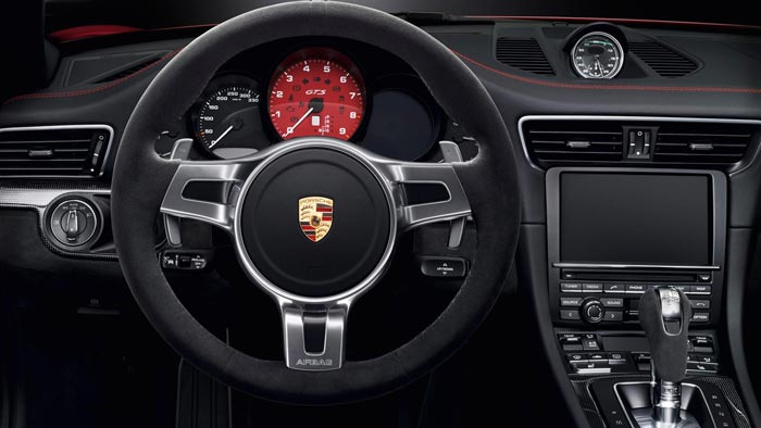 Dash and controls of the 2015 Porsche 911 GTS