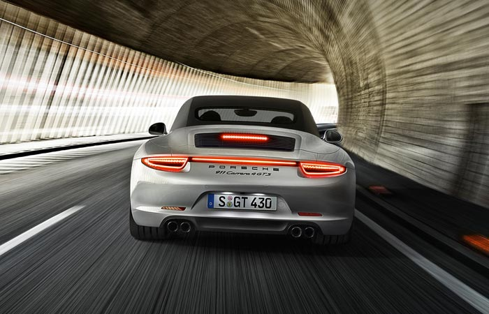 Rear of the 2015 Porsche 911 GTS