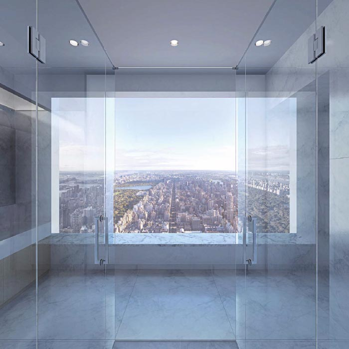 432 Park Avenue interior design and view of the city