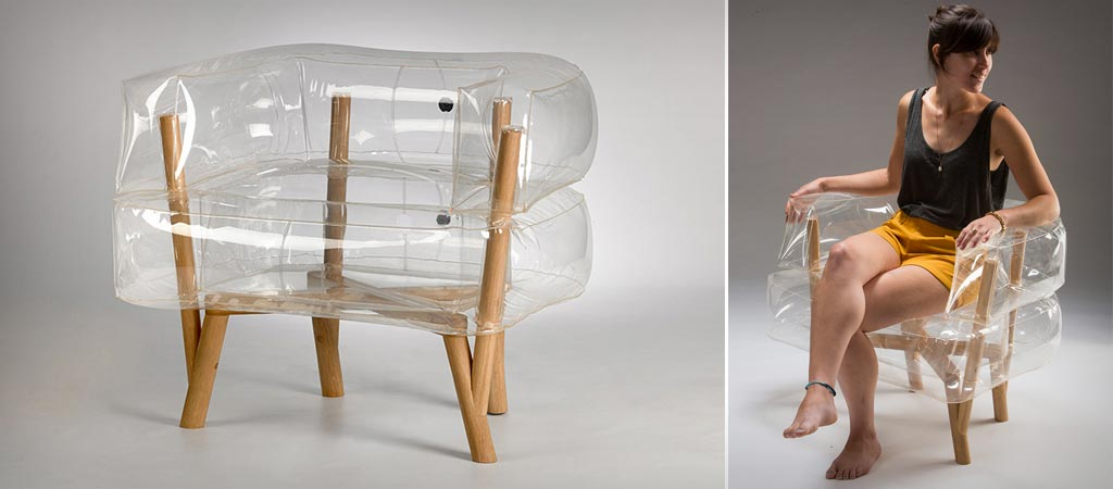 Anda inflatable chair by Tehila Guy