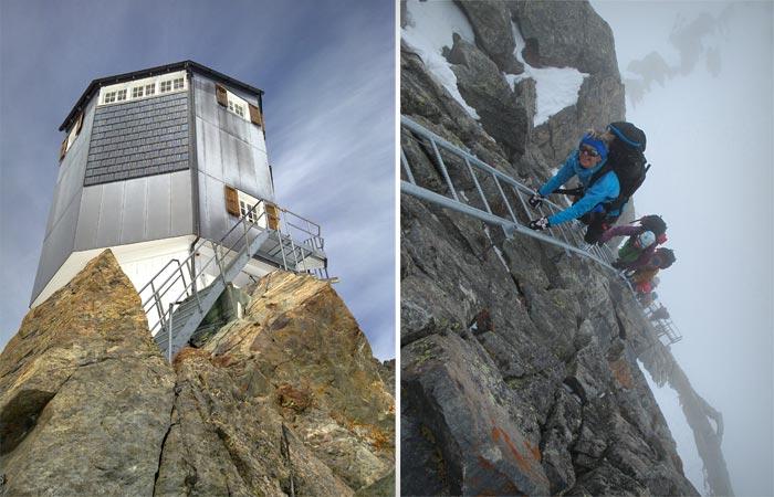 Bertol Hut in the Swiss Alps