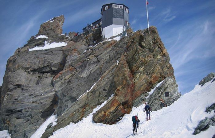 Bertol Hut in Swiss Alps