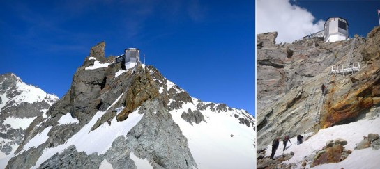 BERTOL HUT IN THE SWISS ALPS