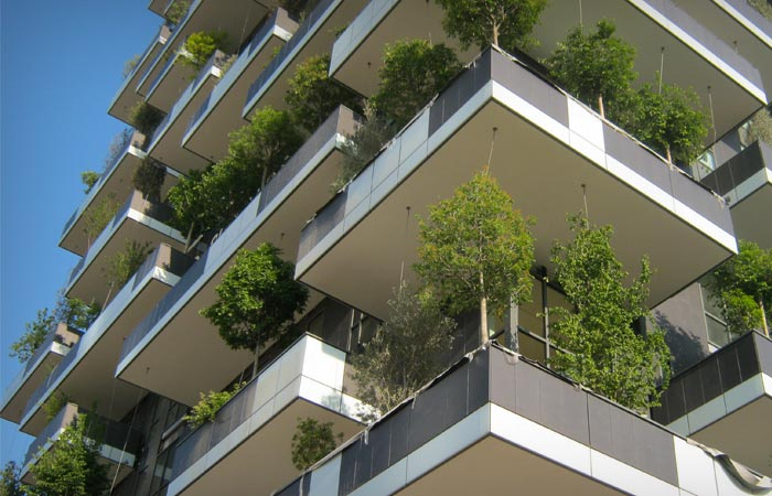 Bosco Verticale Buildings in Milan Italy