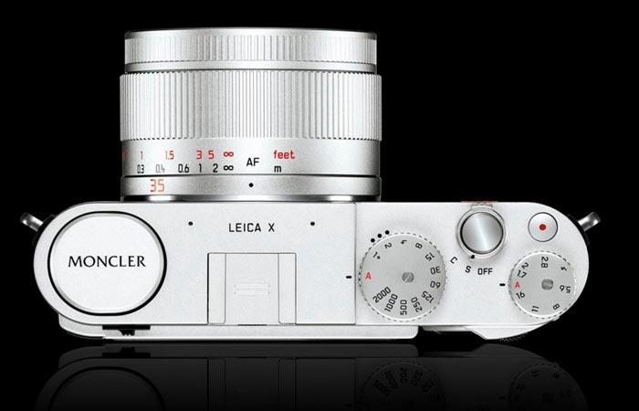 Leica X Edition Moncler buttons