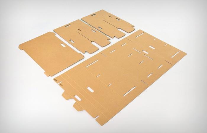 Refold cardboard desk