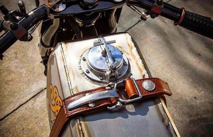 Roland Sands Custom Indian Track Chief gas tank