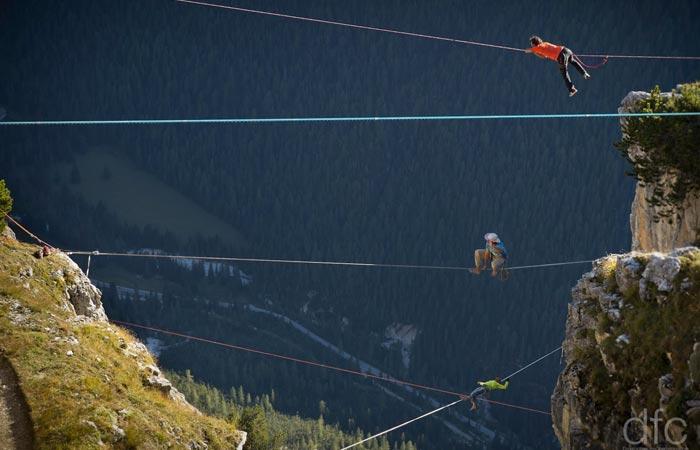 Slackline Festival in the alps