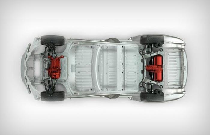 Tesla Model S P85D 2 engine distribution