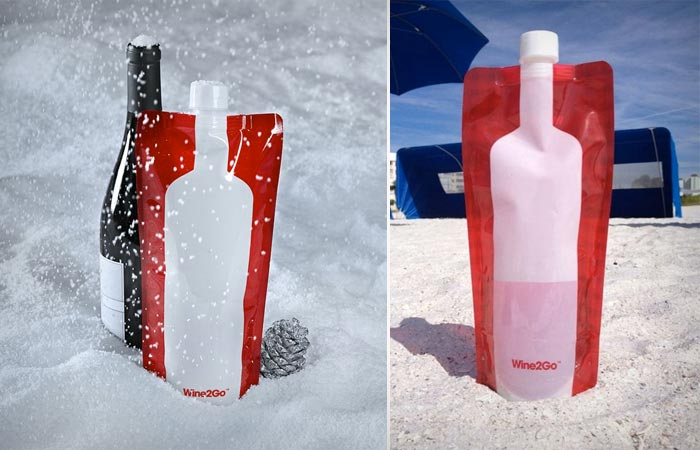 Wine2Go foldable wine bottle