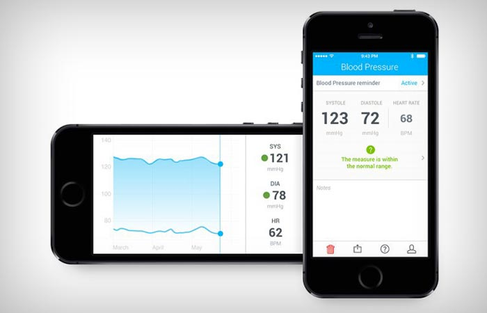 Withings wireless blood pressure monitor app