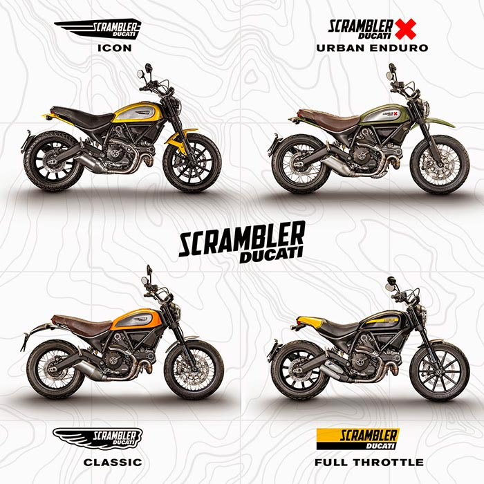 2015 Ducati Scrambler models