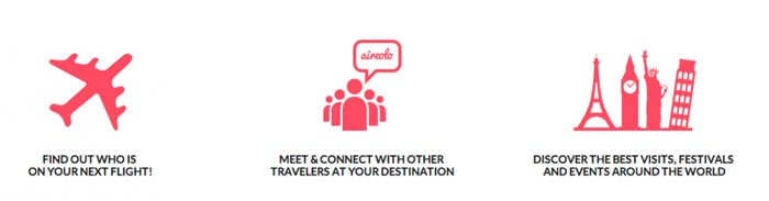 Airzolo travel app features