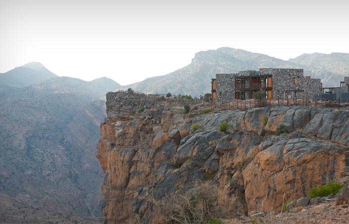Natural surroundings at Alila Jabal Akhdar Hotel in Oman
