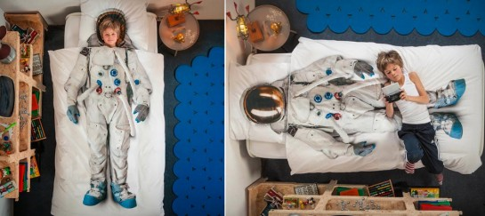 SNURK ASTRONAUT DUVET COVER AND PILLOW CASE