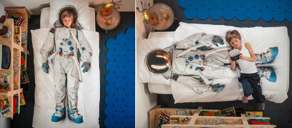 Astronaut Duvet Cover and Pillow Case