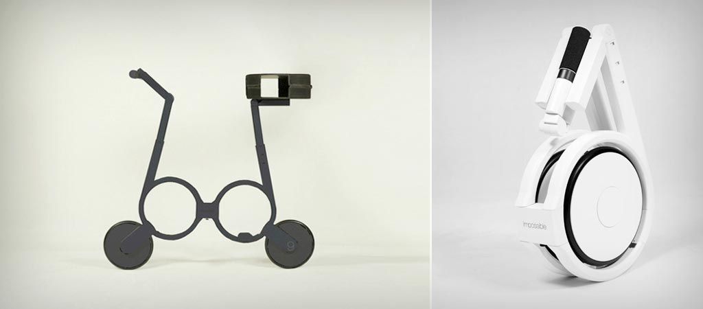 Folding Electric Bicycle by Impossible Technology