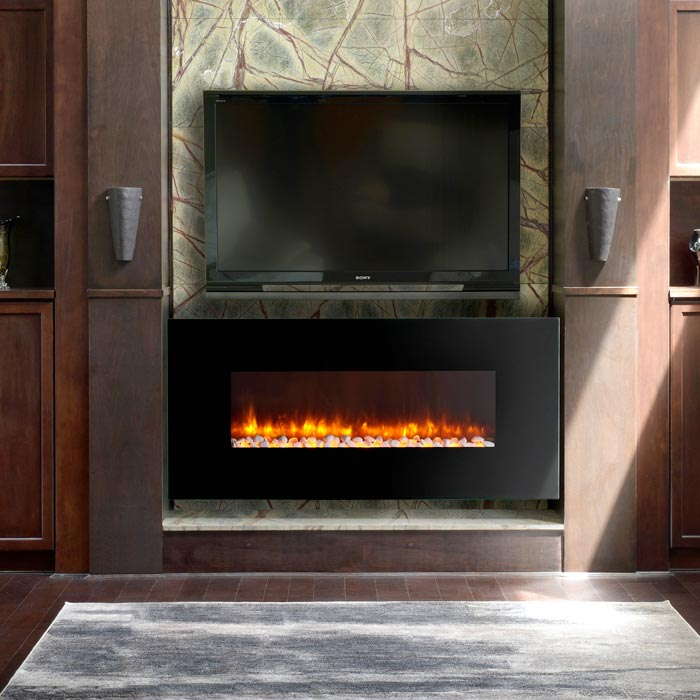 LED WALL MOUNTED ELECTRIC FIREPLACES BY DYNASTY