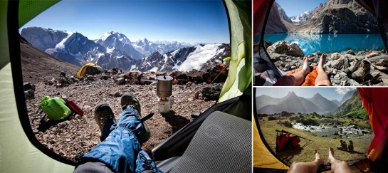 """MORNING VIEWS FROM THE TENT"" 