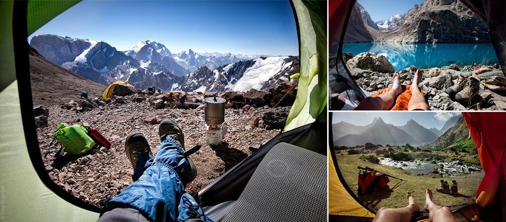 Morning views from the tent by Oleg Grigoryev