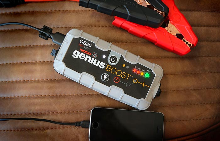 Noco Genius Boost jump starter and phone charger
