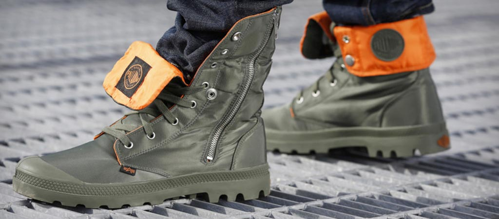 Pampa Zip MA-1 boots by Palladium and Alpha Industries