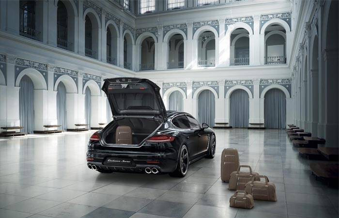 Trunk of the Porsche Panamera Exclusive Series