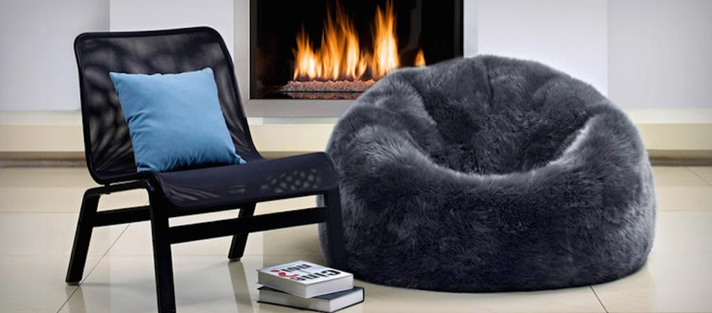 Sheepskin bean bag by Parker Wool