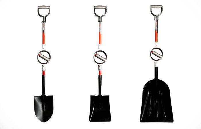 Ergonomic Bosse shovels
