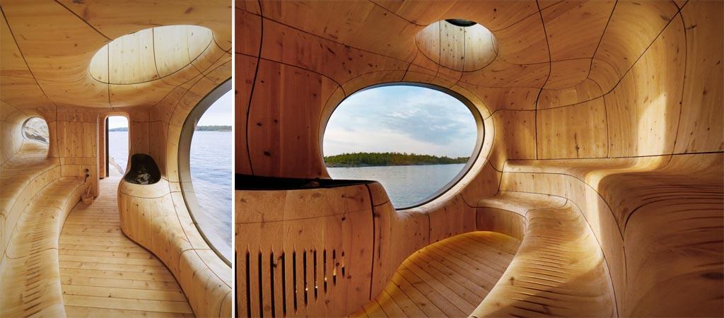 Grotto Sauna by Partisans Studio