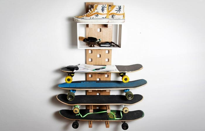 Modular wall storage and shelving
