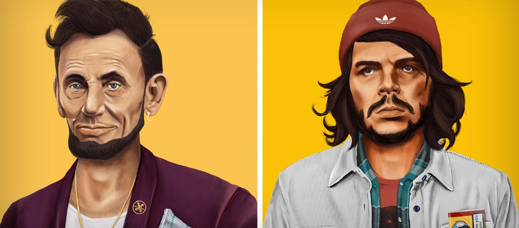 Hipstory hipster world leaders by Amit Shimoni