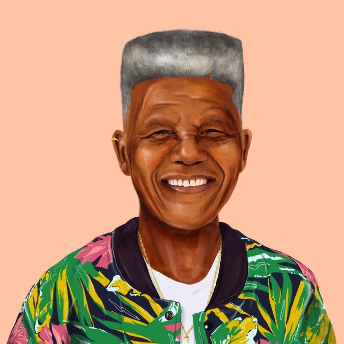 Hipster Nelson Mandela by Amit Shimoni