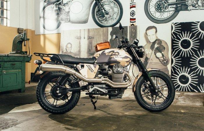 Camouflage Moto Guzzi V7 custom kit