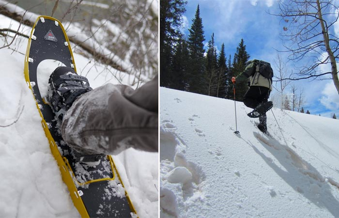 Uses of the MSR Lightning Ascent snow shoes