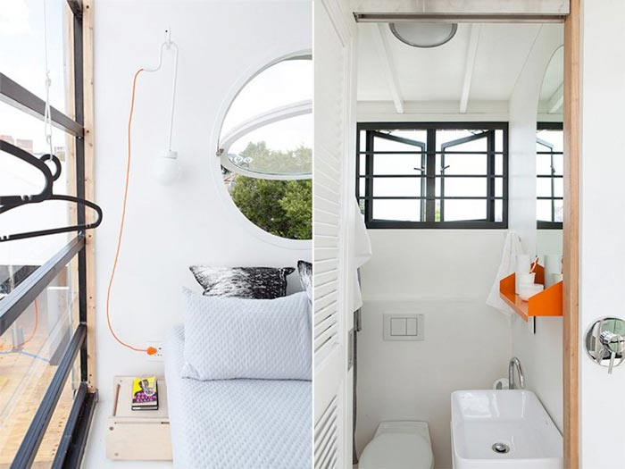 Bedroom and bathroom of a micro-house